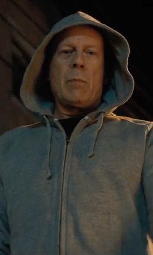 Bruce Willis with Ovadia & Sons Vapor Zip Hoodie in Death Wish