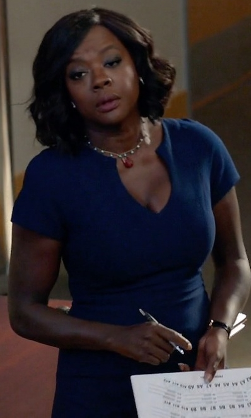 Viola Davis with Black Halo Gypsy Rose Sheath Dress in How To Get Away With Murder