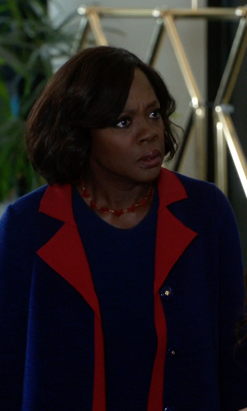 Viola Davis with Paco Rabanne Single-Button Coat in How To Get Away With Murder
