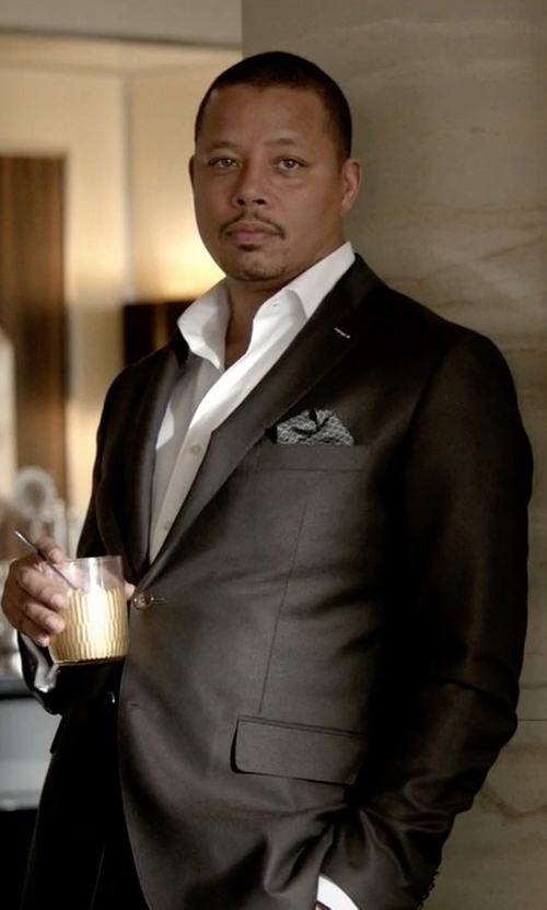 Terrence Howard  with Armani Collezioni Slim Fit Suit in Empire