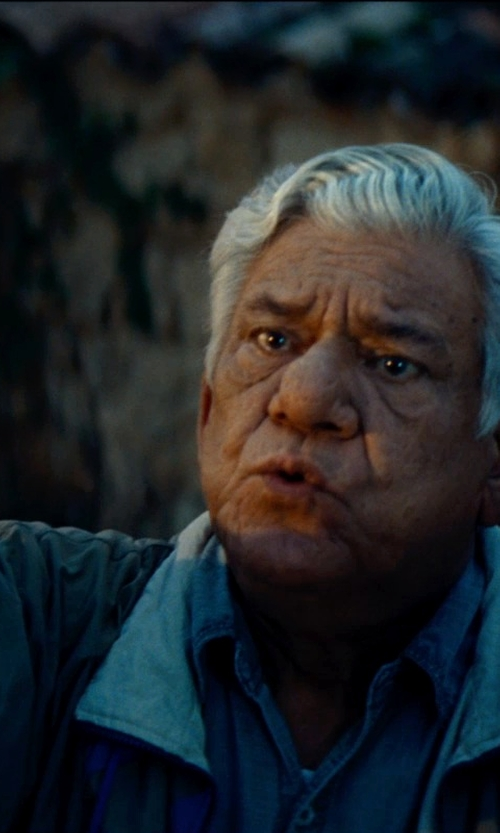 Om Puri with Forrester Mens Full-Zip Rain Jacket in The Hundred-Foot Journey