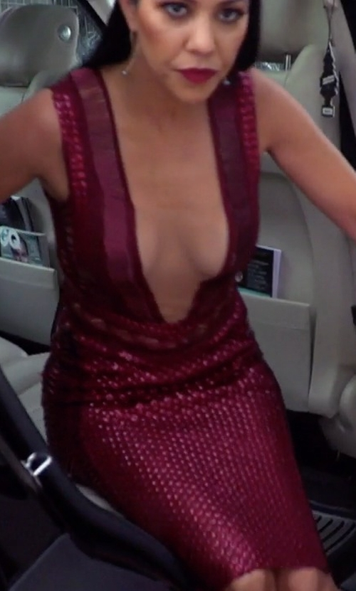 Kourtney Kardashian with Julien Macdonald Spring 2016 Dress in Keeping Up With The Kardashians