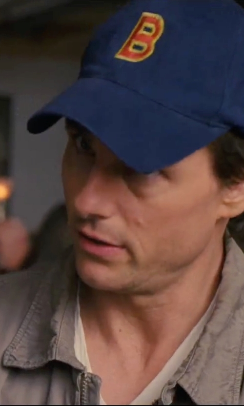 Tom Cruise with S Cloth Letter Embroidery Baseball Cap in Knight and Day