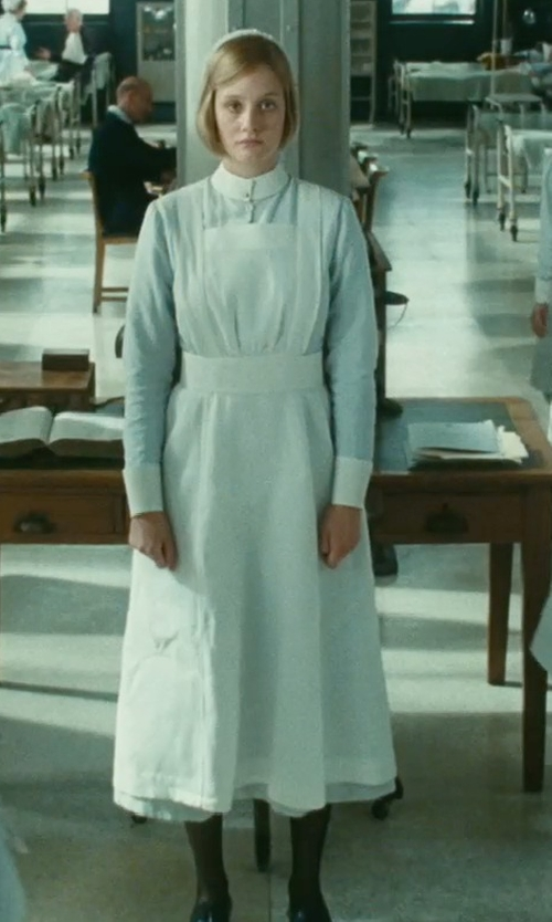 Romola Garai with Jacqueline Durran (Costume Designer) Custom Made Nurse Uniform in Atonement