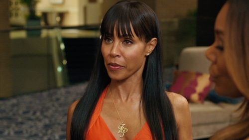 Jada Pinkett Smith with Argento Vivo Personalized 3-Letter Monogram Necklace in Girls Trip
