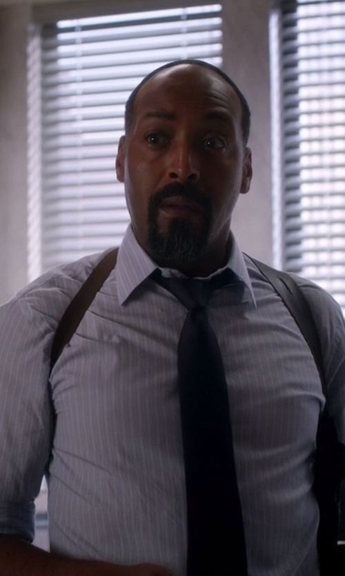 Jesse L. Martin with Armani Collezioni Shadow-Stripe Dress Shirt in The Flash