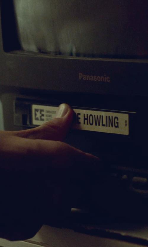 Adam Driver with The Howling The Howling Horror VHS in While We're Young