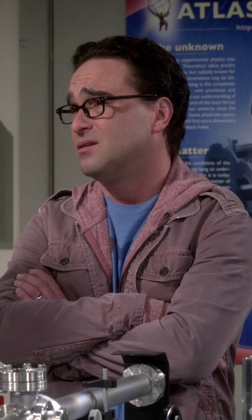 Johnny Galecki with Replay Single-Breasted Jacket in The Big Bang Theory