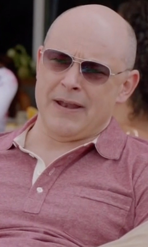 Rob Corddry with Peter Millar Linen-Blend Short-Sleeve Polo Shirt in Ballers