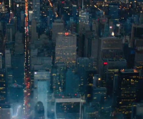 Unknown Actor with GE Building New York City, New York in Fantastic Four