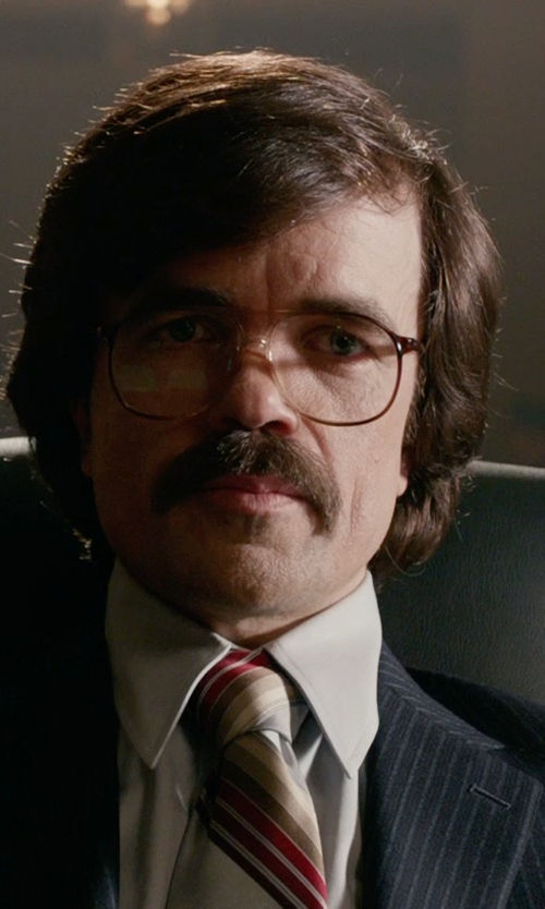 Peter Dinklage with Paul Smith Exclusive Pin-Stripe Two-Button Suit in X-Men: Days of Future Past