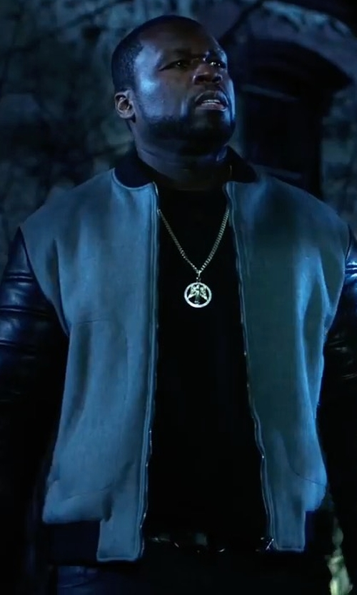 50 Cent with PS by Paul Smith Varsity Bomber Jacket in Power