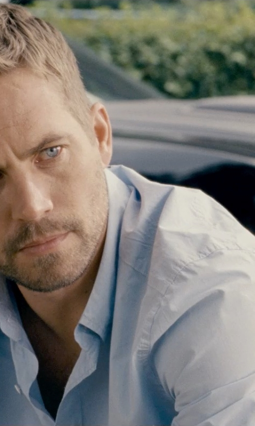 Paul Walker with Theory Wickett Zack Woven Button Down Shirt - Slim Fit in Fast & Furious 6