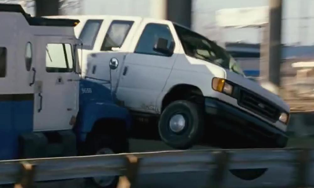 Mark Wahlberg with Ford E-Series Cargo E-250 in Contraband