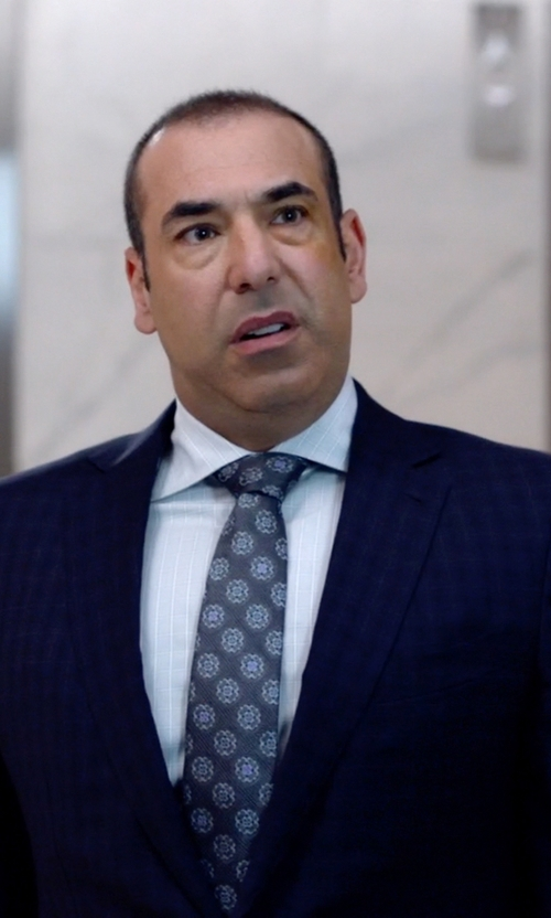 Rick Hoffman with Canali Medallion Silk Tie in Suits