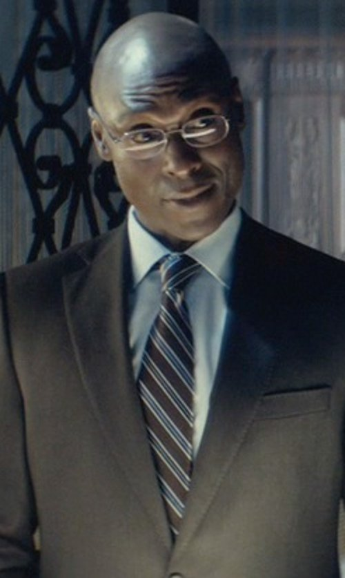 Lance Reddick with Mr. Start Square Collar Poplin Shirt in John Wick