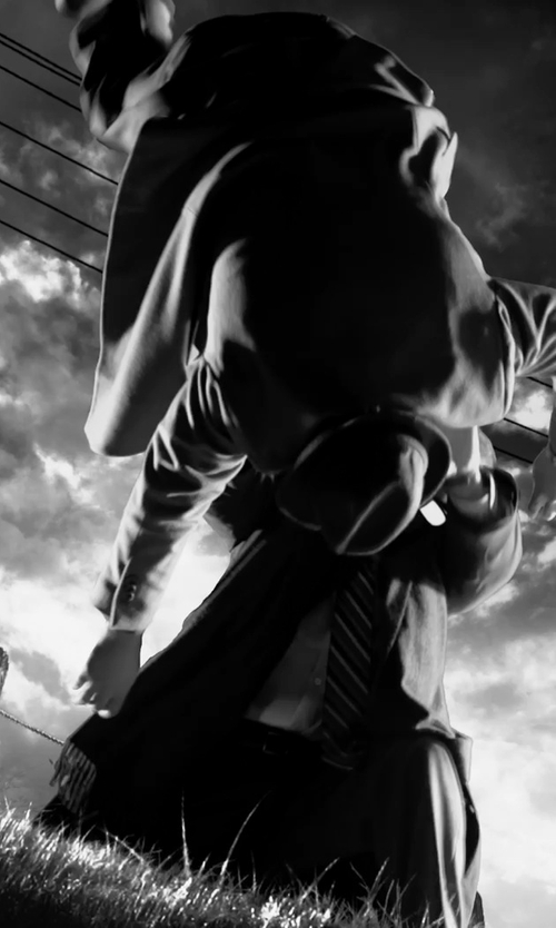 Unknown Actor with Zzegna Wool & Cotton Structured Trousers in Frank Miller's Sin City: A Dame To Kill For