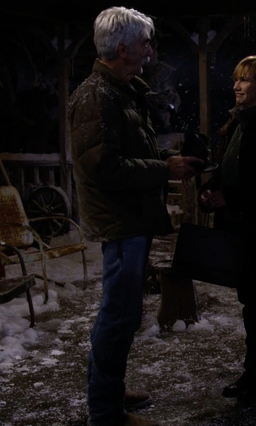 Sam Elliott with Michael Kors Mens Hudson Suede Boots in The Ranch