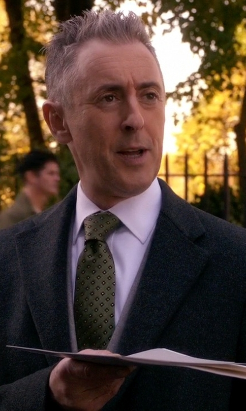 Alan Cumming with Kiton Medallion Neck Tie in The Good Wife