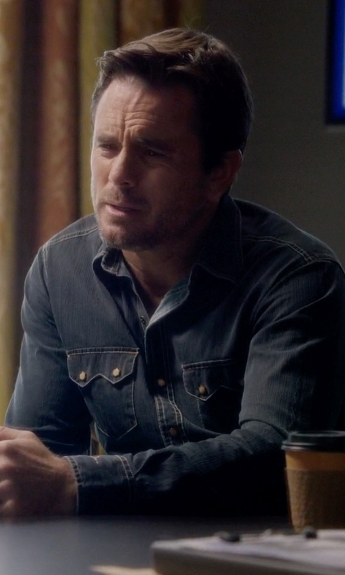 Charles Esten with Dr Denim Denim Button Down Shirt in Nashville