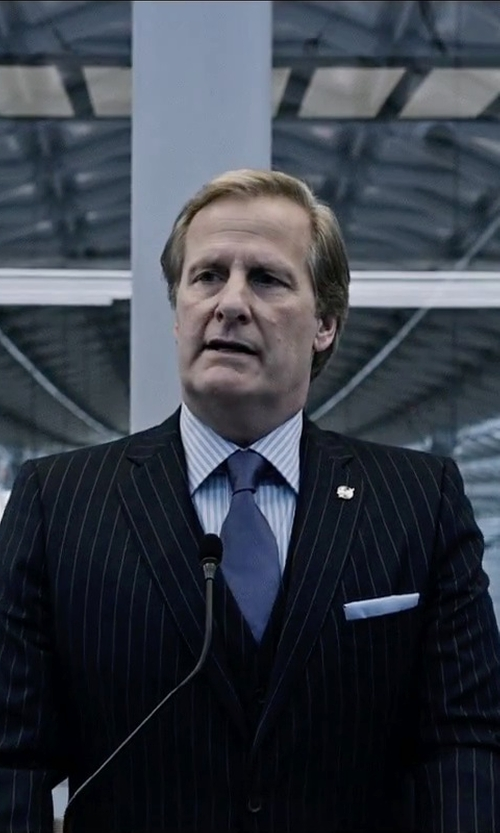 Jeff Daniels with Boss Hugo Boss Silk Pocket Square in The Martian