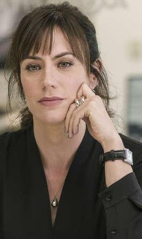 Maggie Siff with Gomelsky by Shinola Shirley Alligator Strap Watch in Billions