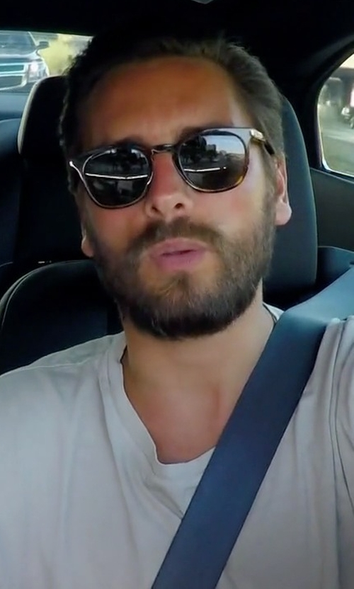 Scott Disick with John Elliott Mercer Cotton-Jersey T-Shirt in Rob & Chyna
