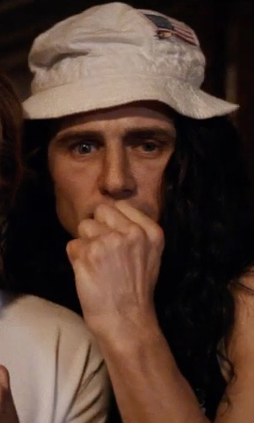 James Franco with Go All Out American Flag Embroidered Bucket Cap in The Disaster Artist