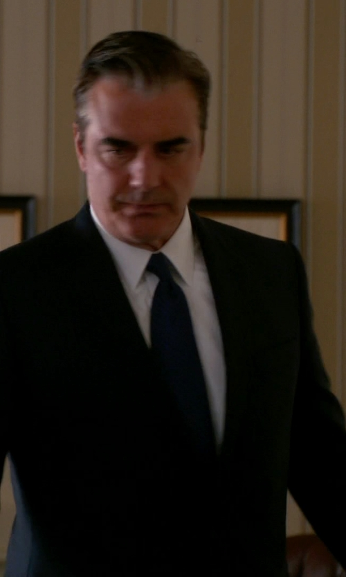 Chris Noth with Giorgio Armani Soho Techno Cady Crepe Suit in The Good Wife