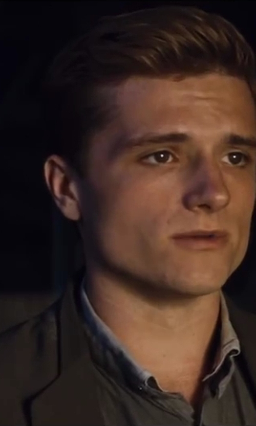 Josh Hutcherson with Ralph Lauren Black Label Sloan Shirt in The Hunger Games: Catching Fire