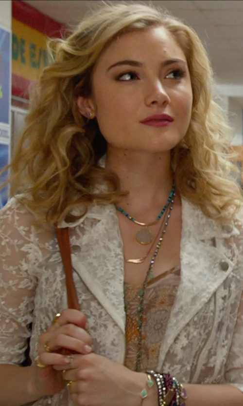 Skyler Samuels with Tai	 Beaded Bracelet in The DUFF