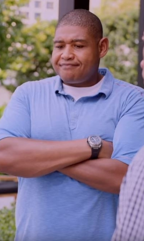 Omar Benson Miller with Paglia Short Sleeve Polo Shirt in Ballers