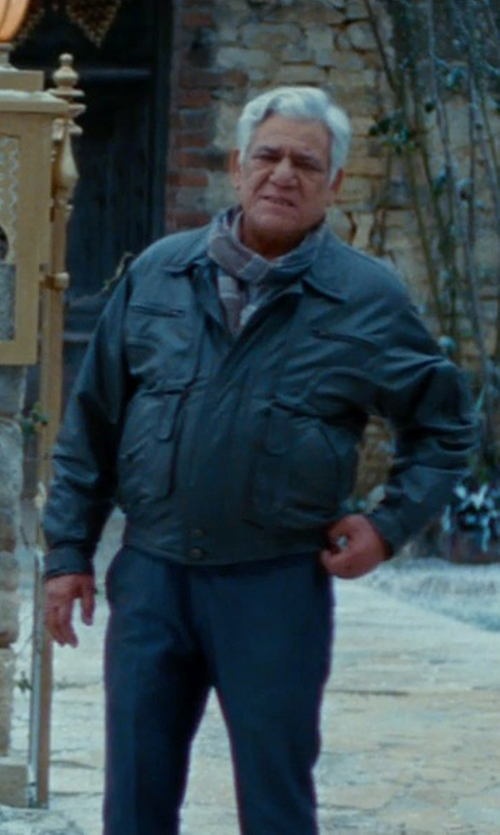 Om Puri with Rag & Bone Delancey Field Jacket in The Hundred-Foot Journey
