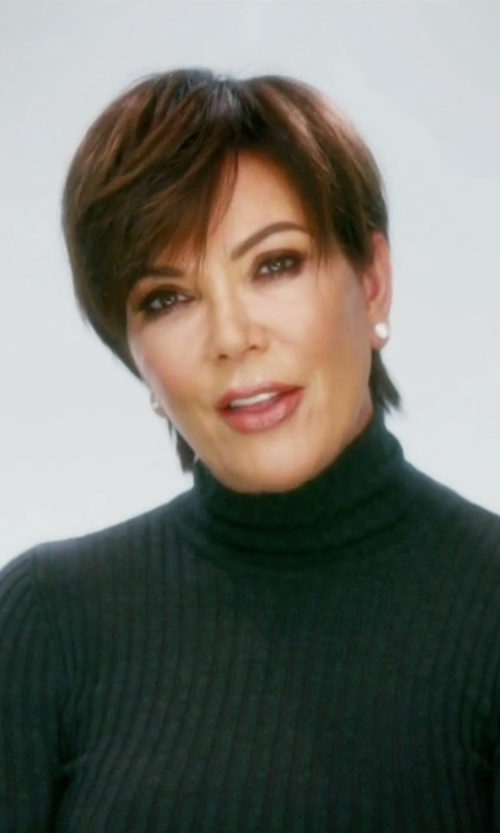 Kris Jenner with Proenza Schouler Ribbed Wool & Cashmere Turtleneck Sweater in Keeping Up With The Kardashians