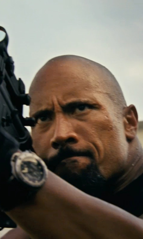 Dwayne Johnson with Panerai Luminor Submersible Divers PAM0025 Watch in Fast Five