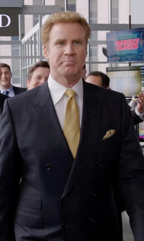 Will Ferrell with Armani Collezioni  S-Line Double-Breasted Suit in Get Hard