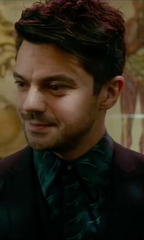 Dominic Cooper with Maurizio Baldassari Worsted Wool Two-button Suit in Miss You Already
