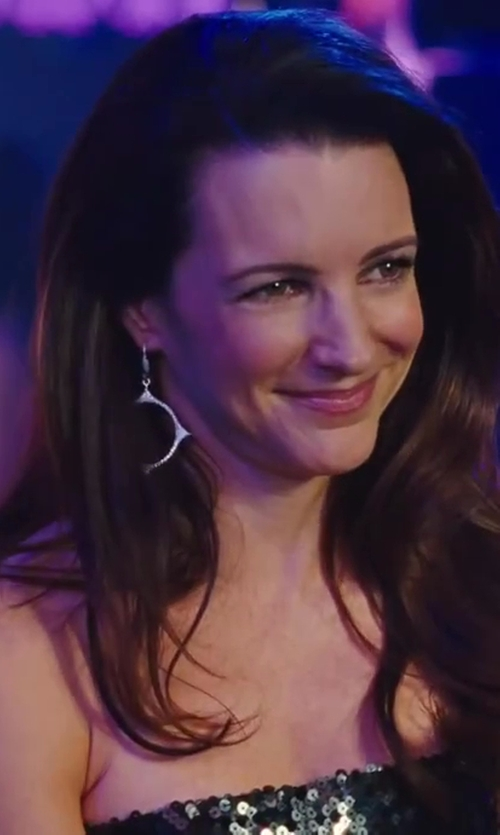 Kristin Davis with Blu by Betty Lou Moscot Diamond Tranquility Earrings in Sex and the City 2