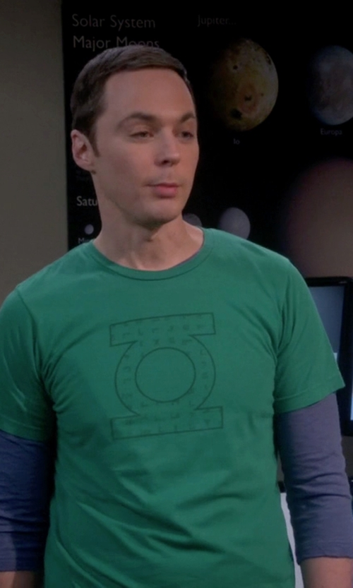 Jim Parsons with Sons Of Gotham GL Logo Distressed T-Shirt in The Big Bang Theory