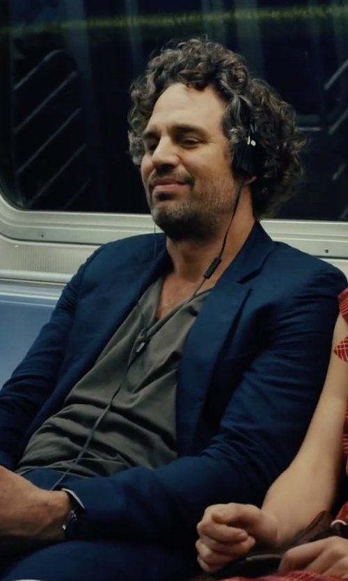 Mark Ruffalo with Robert Geller Seconds Crew Neck T-Shirt in Begin Again