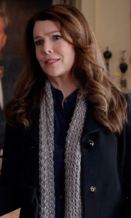 Lauren Graham with Line & Dot Cecil Button Coat in Gilmore Girls: A Year in the Life