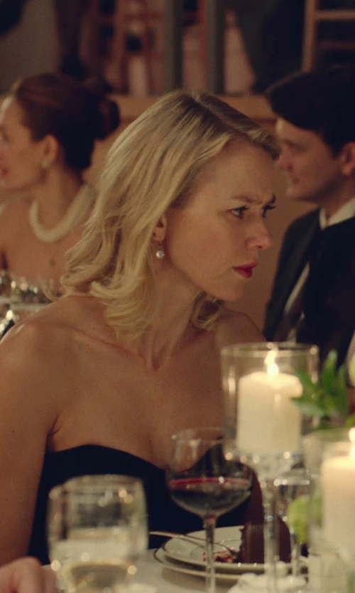 Naomi Watts with Lord & Taylor Pearl and Diamond Drop Earrings in While We're Young
