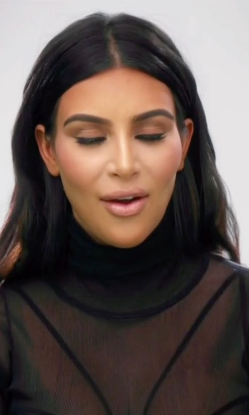 Kim Kardashian West with Wolford Neon Pullover Sweater in Keeping Up With The Kardashians