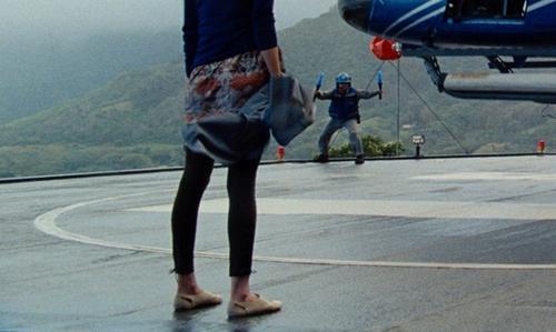 Lauren Lapkus with Aldo Cream Suede Flats in Jurassic World