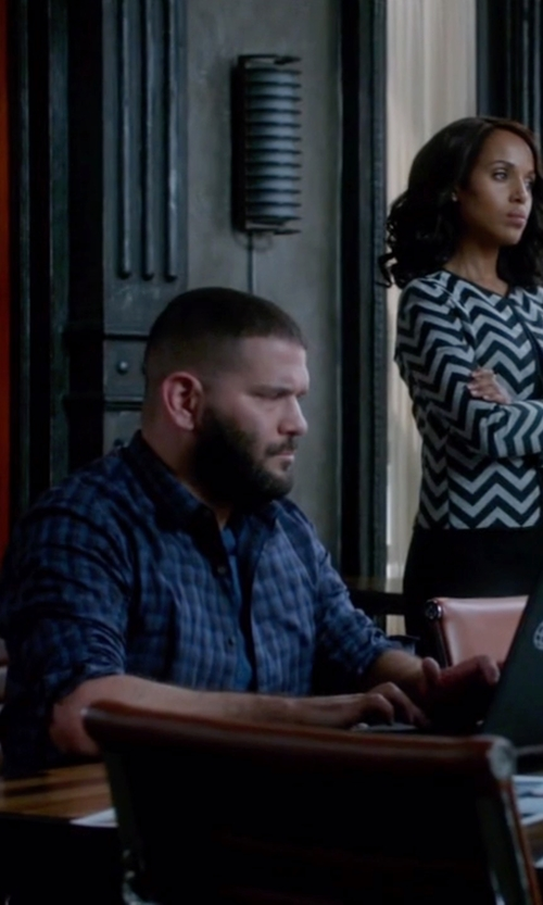 Guillermo Díaz with Lanvin Check Shirt in Scandal