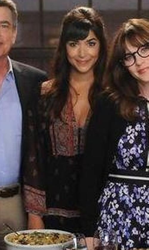 Hannah Simone with Joie Alpina Silk Dress in New Girl