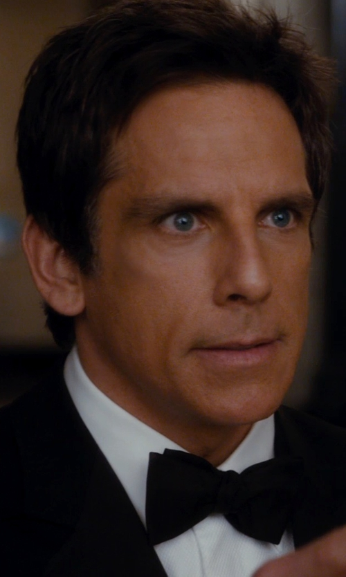 Ben Stiller with David Donahue Tonal Solid Regular Fit Tuxedo Shirt in Night at the Museum: Secret of the Tomb