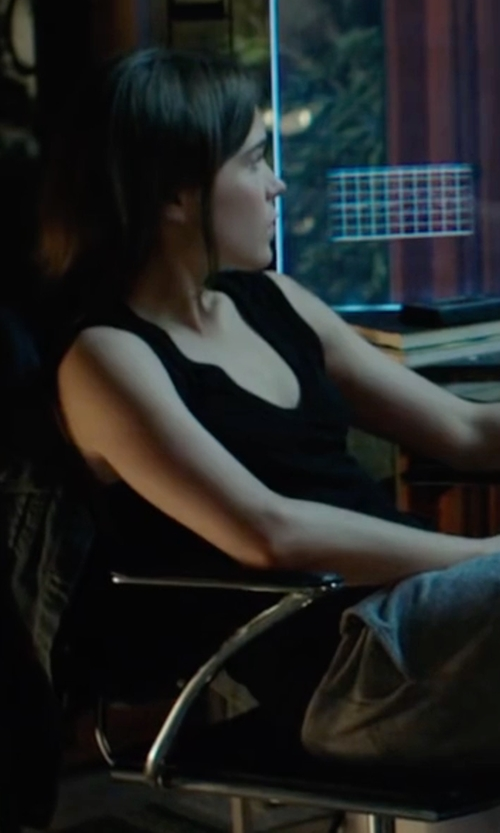 Ellen Page with RVCA Baxter Tank Top in Into the Forest
