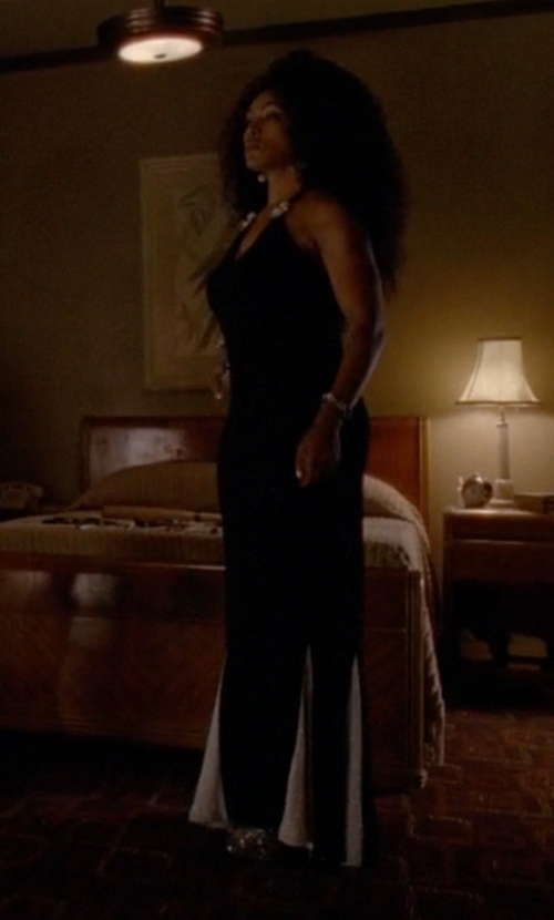 Angela Bassett with Karina Grimaldi Fabi Maxi Dress in American Horror Story