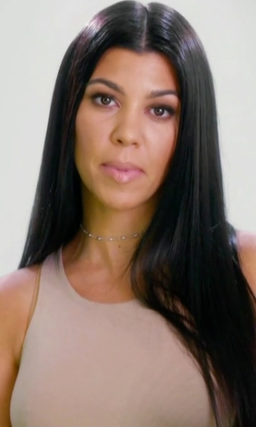 Kourtney Kardashian with Le Coeur De Twin-Set Simona Barbieri Tank Top in Keeping Up With The Kardashians